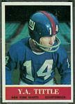 Y.A. Tittle 1964 Philadelphia football card