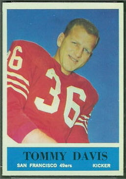 Tommy Davis 1964 Philadelphia football card
