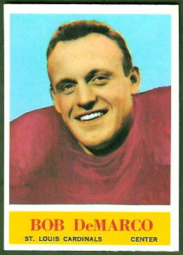 Bob DeMarco 1964 Philadelphia rookie football card