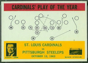 Cardinals Play of the Year 1964 Philadelphia football card