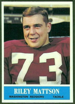 Riley Mattson 1964 Philadelphia football card