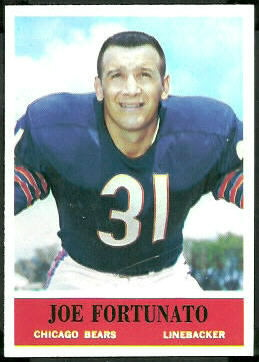 Joe Fortunato 1964 Philadelphia football card