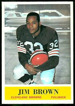 Jim Brown 1964 Philadelphia football card