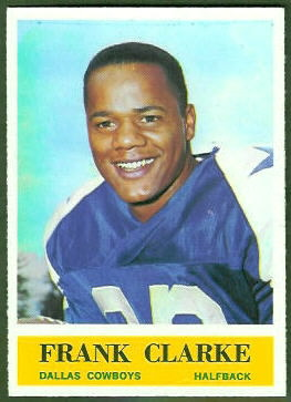 Frank Clarke 1964 Philadelphia football card