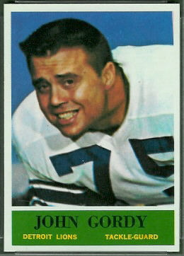 John Gordy 1964 Philadelphia football card
