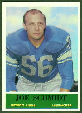 Joe Schmidt 1964 Philadelphia football card