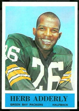 1964 Philadelphia Herb Adderley rookie football card