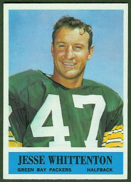 Jesse Whittenton 1964 Philadelphia rookie football card