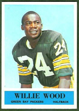 Willie Wood 1964 Philadelphia football card