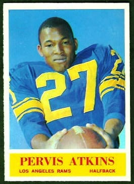 1964 Philadelphia Pervis Atkins rookie football card