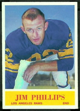 Jim Phillips 1964 Philadelphia football card