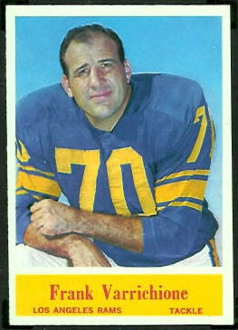 Frank Varrichione 1964 Philadelphia football card