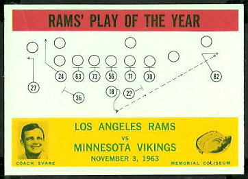 Rams Play of the Year 1964 Philadelphia football card