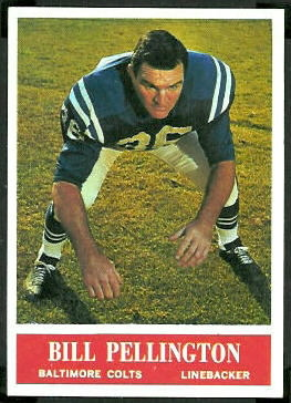 Bill Pellington 1964 Philadelphia football card