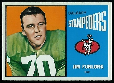 Jim Furlong 1964 Topps CFL football card