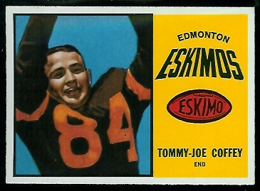 Tommy Joe Coffey 1964 Topps CFL football card