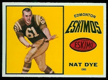 Nat Dye 1964 Topps CFL football card