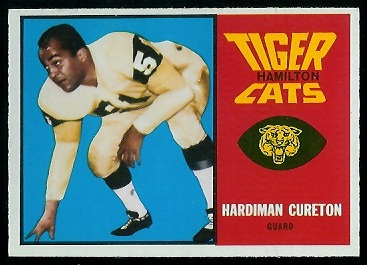 Hardiman Cureton 1964 Topps CFL football card