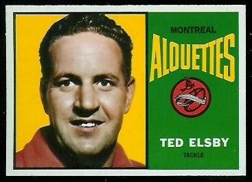 Ted Elsby 1964 Topps CFL football card