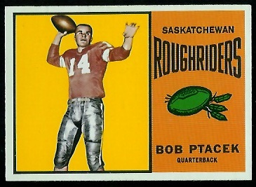 Bob Ptacek 1964 Topps CFL football card