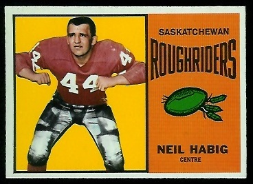 Neil Habig 1964 Topps CFL football card