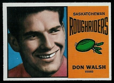 Don Walsh 1964 Topps CFL football card