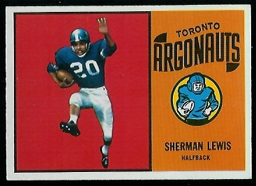 Sherman Lewis 1964 Topps CFL football card