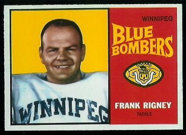 Frank Rigney 1964 Topps CFL football card