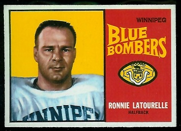 Ron Latourelle 1964 Topps CFL football card