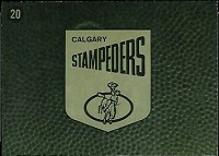 back of 1964 Topps CFL Calgary Stampeders football card