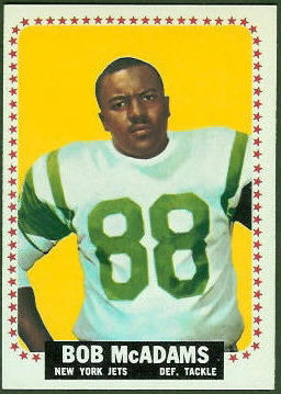 Bob McAdams 1964 Topps football card
