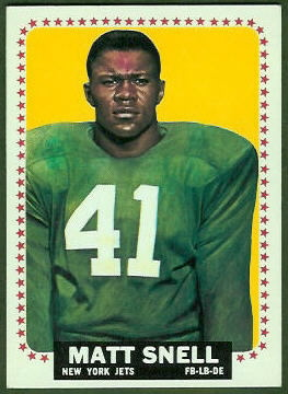 Matt Snell 1964 Topps football card