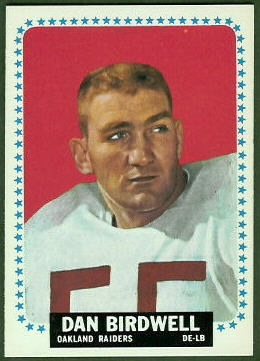 Dan Birdwell 1964 Topps football card