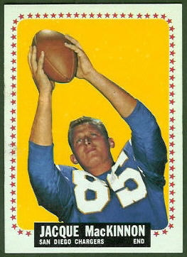1964 Topps Jacque MacKinnon rookie football card