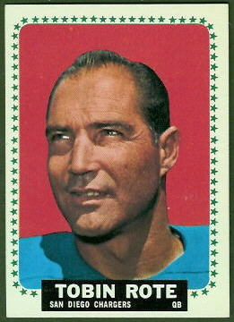 1964 Topps Tobin Rote football card