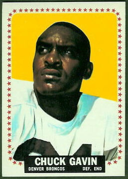 Chuck Gavin 1964 Topps football card
