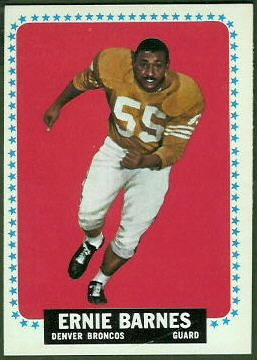 Ernie Barnes 1964 Topps football card