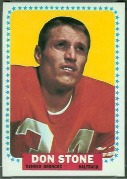 Don Stone 1964 Topps football card
