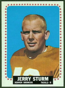 Jerry Sturm 1964 Topps football card