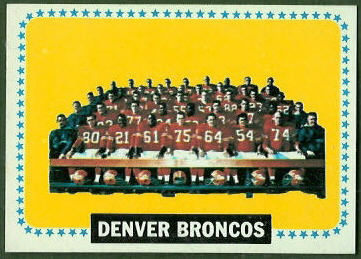 Broncos Team 1964 Topps football card