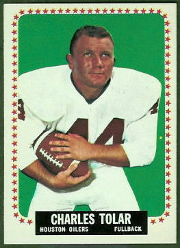 Charley Tolar 1964 Topps football card