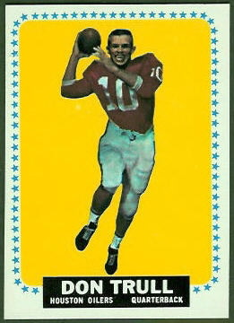 Don Trull 1964 Topps football card