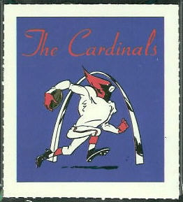 Cardinals emblem 1964 Wheaties Stamps football card