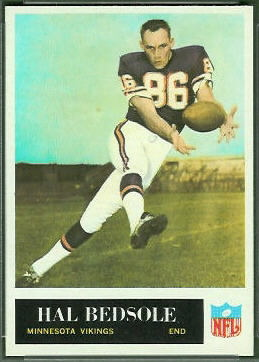 Hal Bedsole 1965 Philadelphia rookie football card