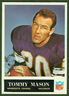 Tommy Mason 1965 Philadelphia football card