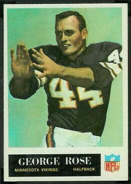 George Rose 1965 Philadelphia football card
