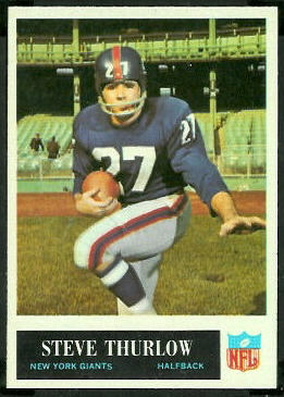 Steve Thurlow 1965 Philadelphia football card