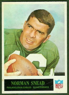 Norm Snead 1965 Philadelphia football card