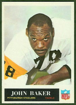 John Baker 1965 Philadelphia football card