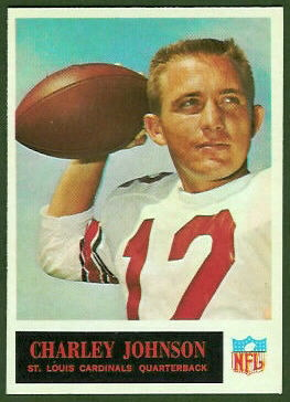 Charley Johnson 1965 Philadelphia football card